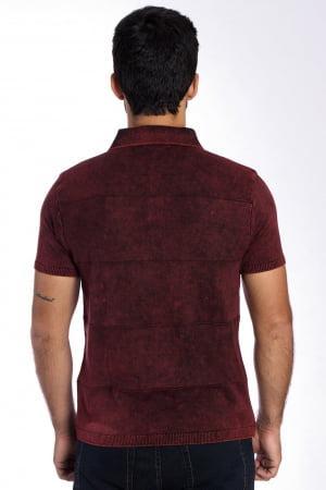 Camisa Polo faixa vermelho stoned