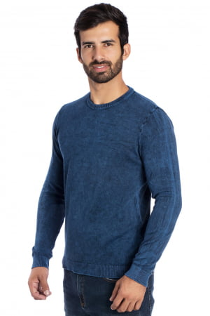 CAMISETA CARECA BASIC STONE AZUL