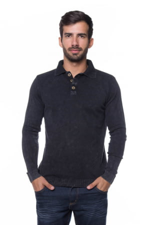 Polo Basic Black Stone