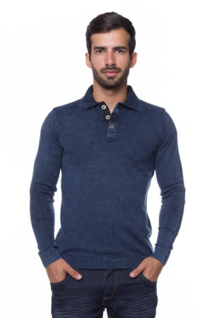 CAMISA POLO BASIC AZUL STONED
