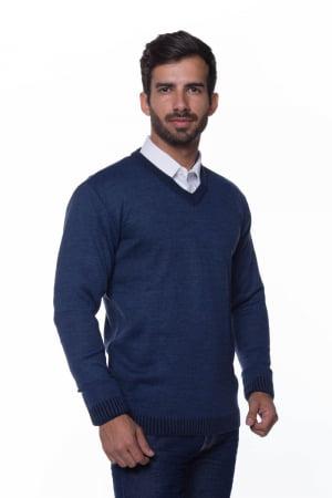 Suéter Básico Wool Azul