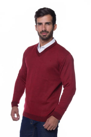 Suéter Básico Wool vermelho