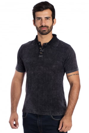 CAMISA POLO Y BLACK STONED