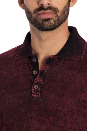 Camisa Polo Y vermelho queimado