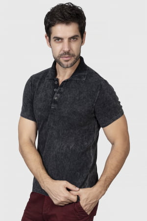 CAMISETA POLO BÁSICA BLACK STONE